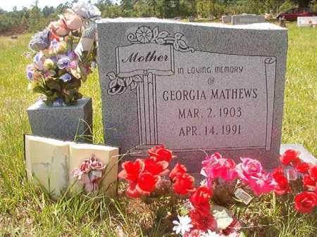 MATHEWS, GEORGIA - Calhoun County, Arkansas | GEORGIA MATHEWS - Arkansas Gravestone Photos