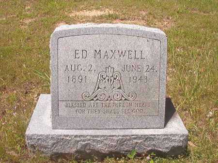 MAXWELL, ED - Calhoun County, Arkansas | ED MAXWELL - Arkansas Gravestone Photos