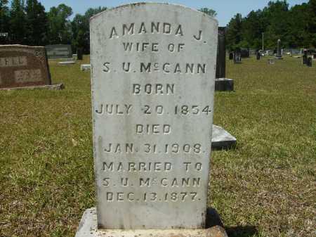 MCCANN, AMANDA J - Calhoun County, Arkansas   AMANDA J MCCANN - Arkansas Gravestone Photos