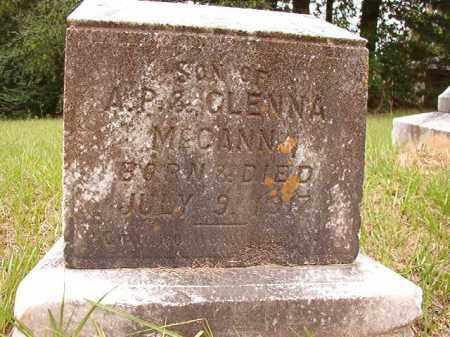 MCCANN, INFANT SON - Calhoun County, Arkansas | INFANT SON MCCANN - Arkansas Gravestone Photos
