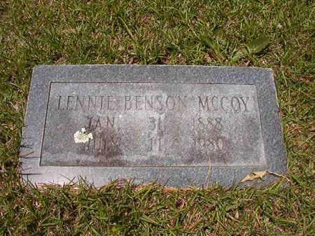 MCCOY, LENNIE - Calhoun County, Arkansas | LENNIE MCCOY - Arkansas Gravestone Photos