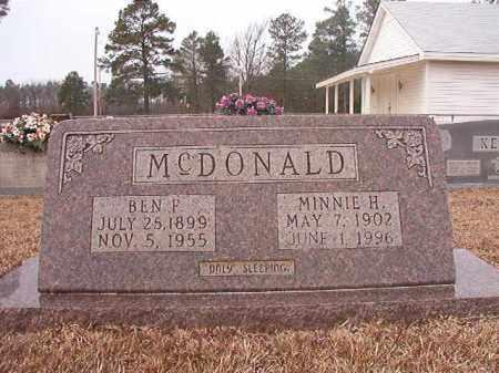 MCDONALD, BEN F - Calhoun County, Arkansas   BEN F MCDONALD - Arkansas Gravestone Photos