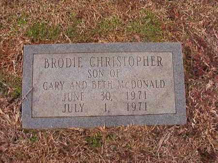 MCDONALD, BRODIE CHRISTOPHER - Calhoun County, Arkansas | BRODIE CHRISTOPHER MCDONALD - Arkansas Gravestone Photos