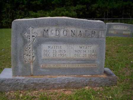 MCDONALD, MATTIE - Calhoun County, Arkansas | MATTIE MCDONALD - Arkansas Gravestone Photos