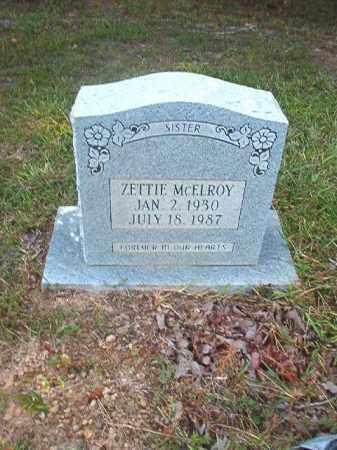 MCELROY, ZETTIE - Calhoun County, Arkansas   ZETTIE MCELROY - Arkansas Gravestone Photos