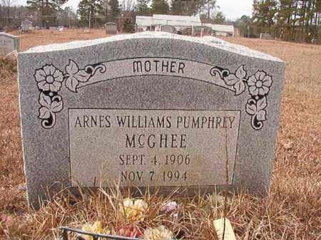WILLIAMS PUMPHREY MCGHEE, ARNES - Calhoun County, Arkansas | ARNES WILLIAMS PUMPHREY MCGHEE - Arkansas Gravestone Photos