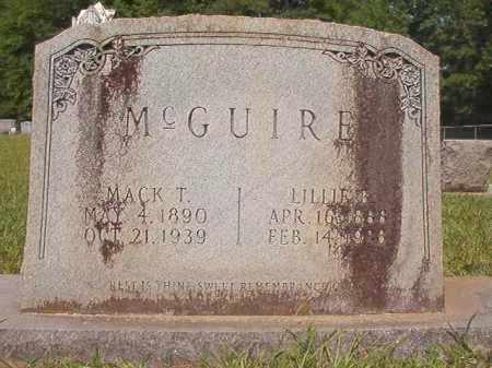 MCGUIRE, LILLIE B - Calhoun County, Arkansas | LILLIE B MCGUIRE - Arkansas Gravestone Photos