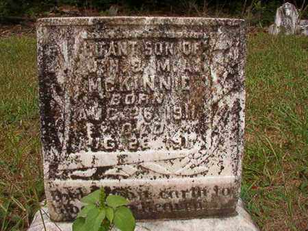 MCKINNIE, INFANT SON - Calhoun County, Arkansas | INFANT SON MCKINNIE - Arkansas Gravestone Photos