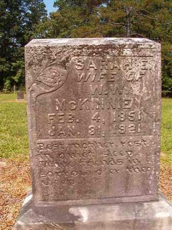MCKINNIE, SARAH E - Calhoun County, Arkansas   SARAH E MCKINNIE - Arkansas Gravestone Photos