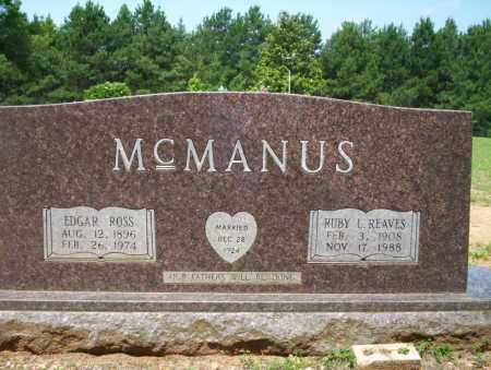 REAVES MCMANUS, RUBY L - Calhoun County, Arkansas | RUBY L REAVES MCMANUS - Arkansas Gravestone Photos