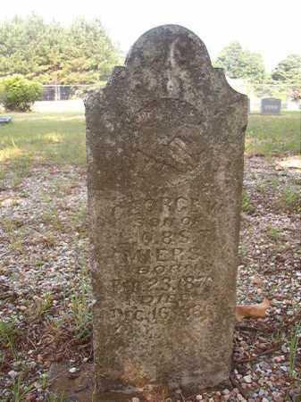 MIERS, GEORGE W - Calhoun County, Arkansas | GEORGE W MIERS - Arkansas Gravestone Photos