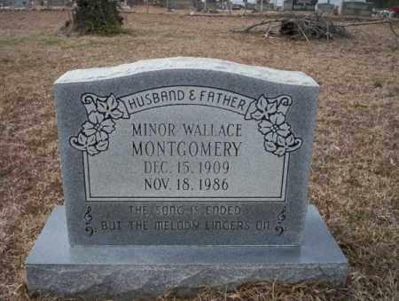 MONTGOMERY, MINOR WALLACE - Calhoun County, Arkansas   MINOR WALLACE MONTGOMERY - Arkansas Gravestone Photos