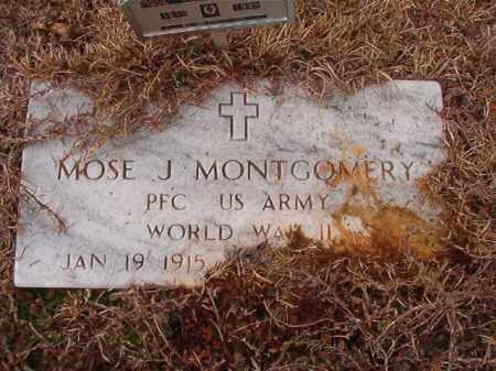 MONTGOMERY (VETERAN WWII), MOSE J - Calhoun County, Arkansas | MOSE J MONTGOMERY (VETERAN WWII) - Arkansas Gravestone Photos
