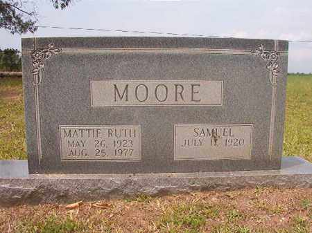 MOORE, MATTIE RUTH - Calhoun County, Arkansas | MATTIE RUTH MOORE - Arkansas Gravestone Photos
