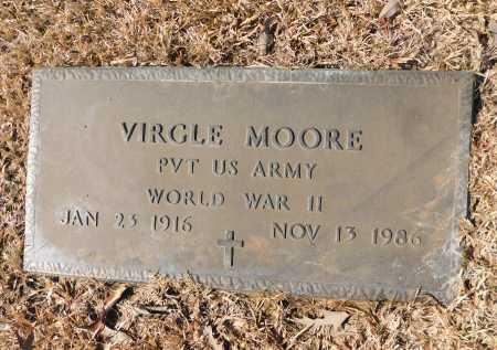 MOORE (VETERAN WWII), VIRGLE - Calhoun County, Arkansas   VIRGLE MOORE (VETERAN WWII) - Arkansas Gravestone Photos