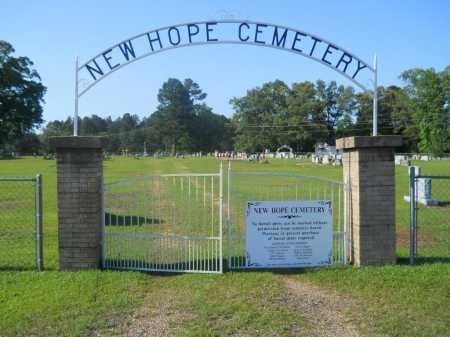 *NEW HOPE, CEMETERY - Calhoun County, Arkansas | CEMETERY *NEW HOPE - Arkansas Gravestone Photos
