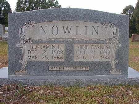 EARNEST NOWLIN, ABBIE - Calhoun County, Arkansas | ABBIE EARNEST NOWLIN - Arkansas Gravestone Photos