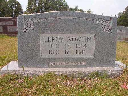 NOWLIN, LEROY - Calhoun County, Arkansas | LEROY NOWLIN - Arkansas Gravestone Photos