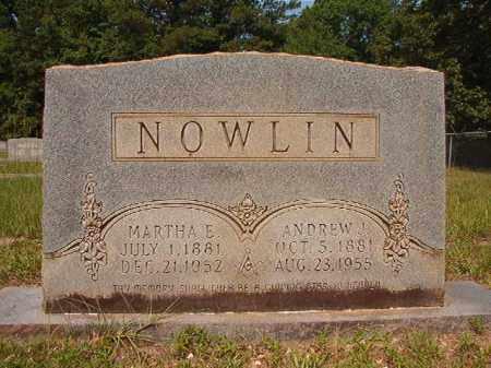NOWLIN, ANDREW J - Calhoun County, Arkansas   ANDREW J NOWLIN - Arkansas Gravestone Photos