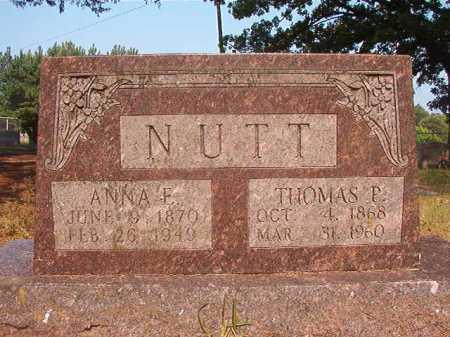 NUTT, ANNA F - Calhoun County, Arkansas | ANNA F NUTT - Arkansas Gravestone Photos