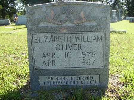 WILLIAMS OLIVER, ELIZABETH - Calhoun County, Arkansas   ELIZABETH WILLIAMS OLIVER - Arkansas Gravestone Photos