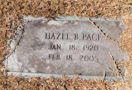 PAGE, HAZEL B - Calhoun County, Arkansas | HAZEL B PAGE - Arkansas Gravestone Photos