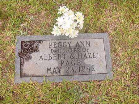 PAGE, PEGGY ANN - Calhoun County, Arkansas   PEGGY ANN PAGE - Arkansas Gravestone Photos