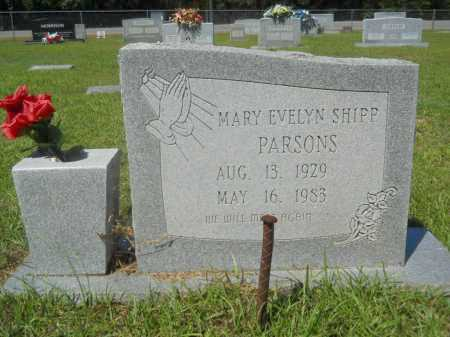 SHIPP PARSONS, MARY EVELYN - Calhoun County, Arkansas | MARY EVELYN SHIPP PARSONS - Arkansas Gravestone Photos