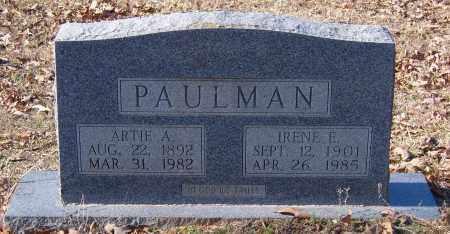 PAULMAN, IRENE E. - Calhoun County, Arkansas   IRENE E. PAULMAN - Arkansas Gravestone Photos