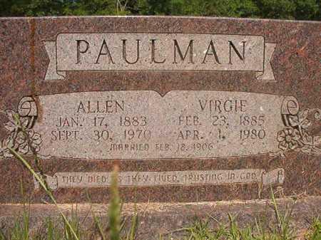 PAULMAN, ALLEN - Calhoun County, Arkansas | ALLEN PAULMAN - Arkansas Gravestone Photos