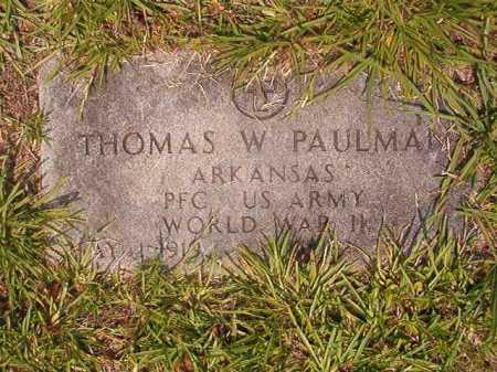 PAULMAN (VETERAN WWII), THOMAS W - Calhoun County, Arkansas | THOMAS W PAULMAN (VETERAN WWII) - Arkansas Gravestone Photos