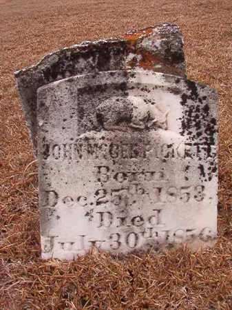 PICKETT, JOHN MCGEE - Calhoun County, Arkansas   JOHN MCGEE PICKETT - Arkansas Gravestone Photos