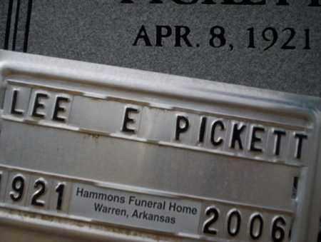 PICKETT, LEE E - Calhoun County, Arkansas   LEE E PICKETT - Arkansas Gravestone Photos