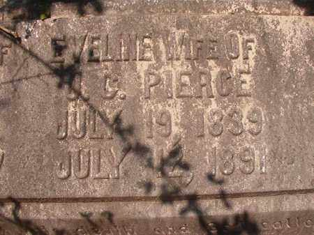 PIERCE, EVELINE (CLOSEUP) - Calhoun County, Arkansas | EVELINE (CLOSEUP) PIERCE - Arkansas Gravestone Photos