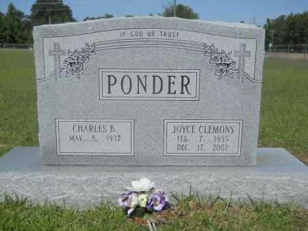 CLEMONS PONDER, JOYCE - Calhoun County, Arkansas   JOYCE CLEMONS PONDER - Arkansas Gravestone Photos
