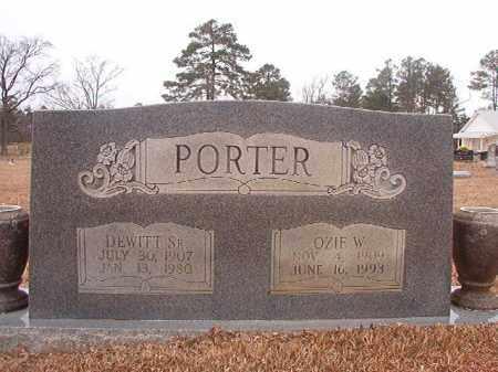 PORTER, OZIE W - Calhoun County, Arkansas | OZIE W PORTER - Arkansas Gravestone Photos