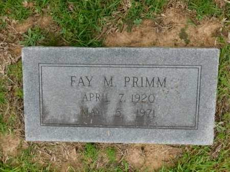 PRIMM, FAY M - Calhoun County, Arkansas | FAY M PRIMM - Arkansas Gravestone Photos