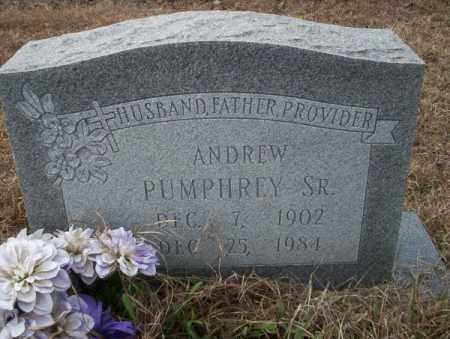 PUMPHREY, SR., ANDREW - Calhoun County, Arkansas | ANDREW PUMPHREY, SR. - Arkansas Gravestone Photos