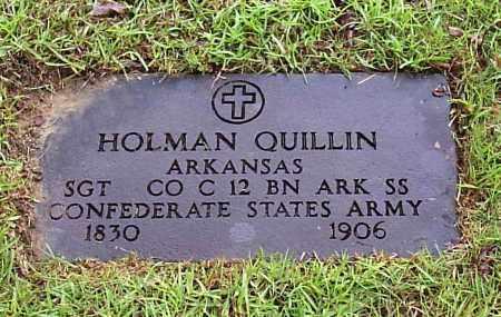 QUILLIN (VETERAN CSA), JESSE HOLMAN - Calhoun County, Arkansas   JESSE HOLMAN QUILLIN (VETERAN CSA) - Arkansas Gravestone Photos