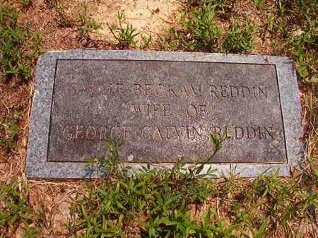 REDDIN, SALLIE - Calhoun County, Arkansas | SALLIE REDDIN - Arkansas Gravestone Photos