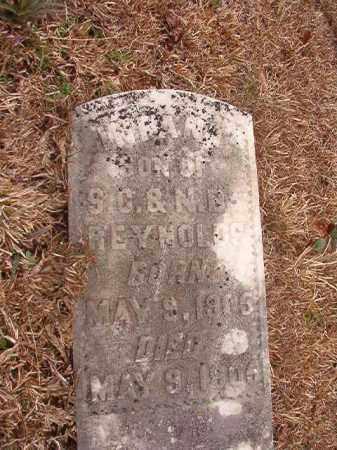REYNOLDS, INFANT SON - Calhoun County, Arkansas | INFANT SON REYNOLDS - Arkansas Gravestone Photos