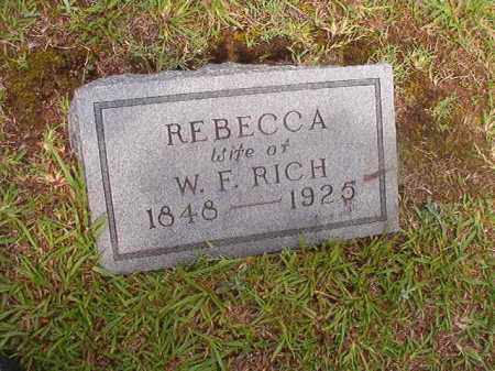 RICH, REBECCA - Calhoun County, Arkansas | REBECCA RICH - Arkansas Gravestone Photos