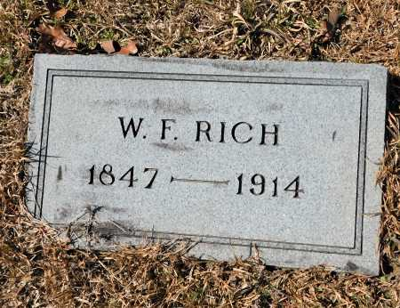RICH, W F - Calhoun County, Arkansas | W F RICH - Arkansas Gravestone Photos