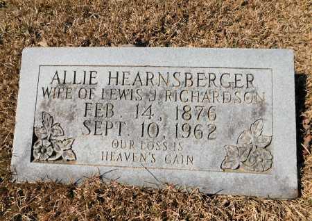 HEARNSBERGER RICHARDSON, ALLIE - Calhoun County, Arkansas | ALLIE HEARNSBERGER RICHARDSON - Arkansas Gravestone Photos