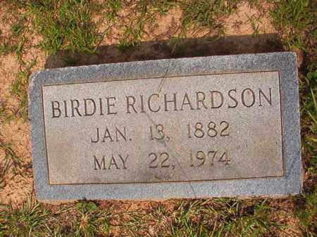 RICHARDSON, BIRDIE - Calhoun County, Arkansas | BIRDIE RICHARDSON - Arkansas Gravestone Photos