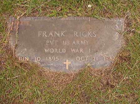 RICKS (VETERAN WWI), FRANK - Calhoun County, Arkansas   FRANK RICKS (VETERAN WWI) - Arkansas Gravestone Photos