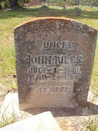 RILES, JOHN - Calhoun County, Arkansas | JOHN RILES - Arkansas Gravestone Photos