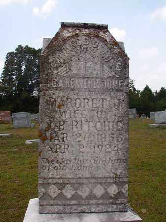 RITCHIE, MARGRET J - Calhoun County, Arkansas   MARGRET J RITCHIE - Arkansas Gravestone Photos