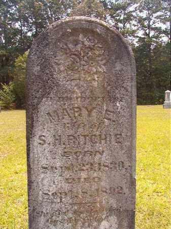 RITCHIE, MARY E - Calhoun County, Arkansas   MARY E RITCHIE - Arkansas Gravestone Photos