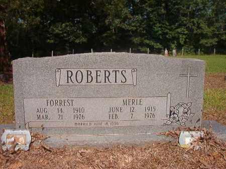 ROBERTS, MERLE - Calhoun County, Arkansas   MERLE ROBERTS - Arkansas Gravestone Photos